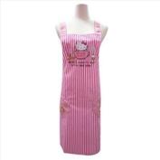 Sanrio Hello Kitty Cooking Kitchen Craft Apron Pink Stripes