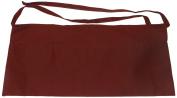 Phoenix Waist Apron with 2 Pockets, 58.4cm by 27.9cm , Burgundy