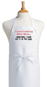 I Love Cooking With Wine Funny Aprons For Chefs
