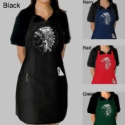 Full Length Black Dual Pocket Apron - Created using the names of popular Native American Indian Tribes