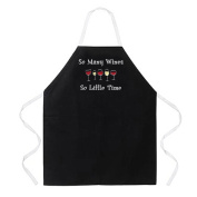 Attitude Apron So Many Wines Apron, Black, One Size Fits Most