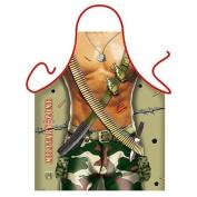 """""""Military Zone"""" (Man) - Sexy Kitchen Apron - 100% Polyester"""