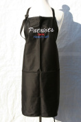 """Black Embroidered Apron """"Patriots fans heat it up"""""""