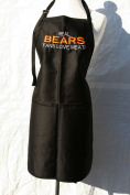 """Black Embroidered Apron """"Real Bears fans love meat"""""""
