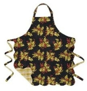 Reversible Quilted Apron, Holly Black