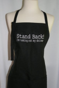 """Black Embroidered Apron """"Stand Back, I'm Taking Out My Driver"""""""