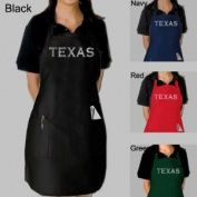 Full Length Black Dual Pocket Apron - Created Using the Most Popular Cities in Texas