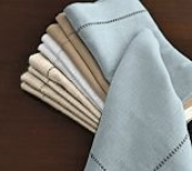 Hemstitch Dinner Napkins Sky Blue 1 Dozen