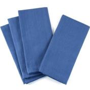 Blue Oversized Square Cotton Canvas Napkin, Set of 12