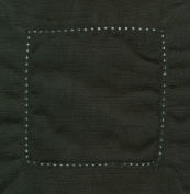 Black 6x6 Hemstitch Cocktail Napkins 1 Dozen