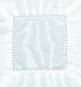 White 6x6 Hemstitch Cocktail Napkins 1 Dozen