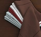Hemstitch Dinner Napkins Brown 1 Dozen