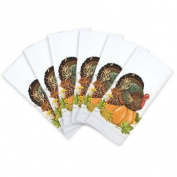 Turkey on Pumpkin Napkin Bundle