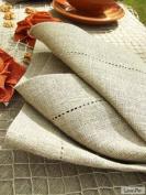 Set of 4 Napkins Natural Linen Hemstitch