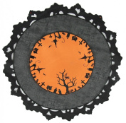 Xia Home Fashions Hallows Eve Embroidered Cutwork 40.6cm Round Place Mat