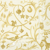 IHR Christmas Tales Gold napkins sumptuous luxury paper napkins new 50cm pack
