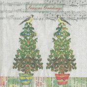 IHR Twitter Birds napkins sumptuous luxury paper christmas napkins new 50cm pack