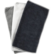 Black, White, and Grey Microfiber Cleaning Cloth, Set of 10