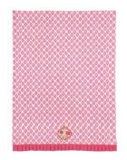 Dena Ikat Sunset Embroidered Kitchen Towel, Pink