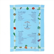 Souvenirs of France - Paris Dish Towel - Colour : Blue