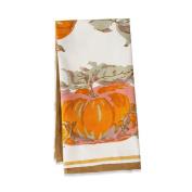 Couleur Nature Pumpkin Tea Towel, 50.8cm by 76.2cm , Orange/Green