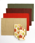 Bardwil Table Linens, Leafwoods 8 Piece Napkin and Placemat Set