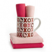 XOXO Mug with Towels Set Kitchen Accessories