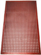 1 pc Red 3x5 Restaurant / Bar Grease Resistant Rubber Floor Mat
