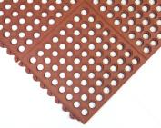 Rubber-Cal Dura-Chef Interlocking Anti-Fatigue Floor Mat - 1.6cm x3ftx3ft - Red Anti Slip Mat