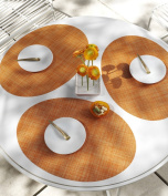 Chilewich Mini Basketweave Oval Placemat, Clementine 35.6cm X 48.6cm
