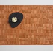 Chilewich Basketweave Rectangle Placemat, 35.6cm X 48.3cm Papaya