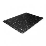 Genuine Joe 58841 Anti-Fatigue Mat, 3x5, Black Marble