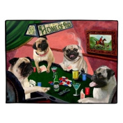 Home of Pugs 4 Dogs Playing Poker Floormat 45.7cm x 61cm