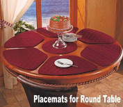 Round Table Placemats (Set of 7) - Burgundy