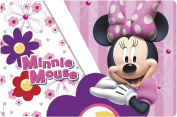 Zak! Designs Placemat with Minnie Mouse Bows Go with Everything, BPA-free Plastic