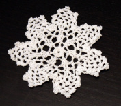 Handmade Crochet Lace Pineapple White Doily. Made of 100% Cotton. 4 Pieces.