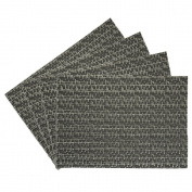 Oasis Vinyl Placemat, Grey, Set of 4