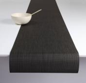 Chilewich Mini Basketweave Runner 35.6cm X 182.9cm , Black