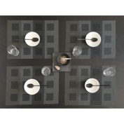 Engineered Squares Tablemat-Steel