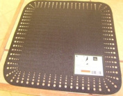 Homewear Seto 38.1cm by 38.1cm Square Mat, Black