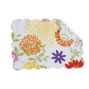 C & F Enterprises - Lilly Quilted Reversable Rectangle Scalloped Placemat