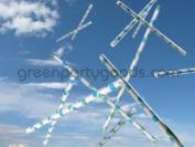 Paper Straws Pack of 144 Aqua Bubbles