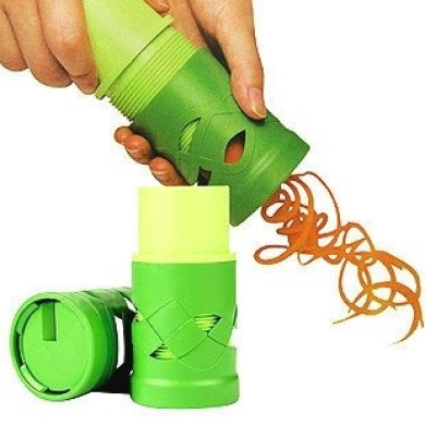 MaClean: Fruit and Vegetable Twister Easy Garnish Veggie Processing Device