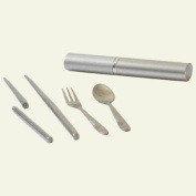 Onyx 18/8 Stainless Steel Travel Cutlery Set Silver