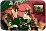 Home of Boxers Cutting Board Four Dogs Playing Poker