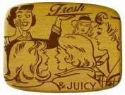 Talisman Designs Get Real Pop Art Beechwood Cheese Board, Fresh and Juicy Design