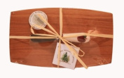 Out of the Woods of Oregon Pate Board with Red Apple Spreader