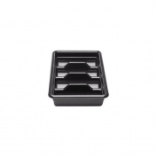 Cambro 1120CBR-110 Regal ABS 4-Compartmented Cutlery Box, 28.9cm by 51.9cm , Black