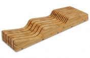 11-slot In-Drawer Bamboo Knife Block