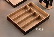 Creative Home Stained Bamboo Cutlery Tray - Espresso